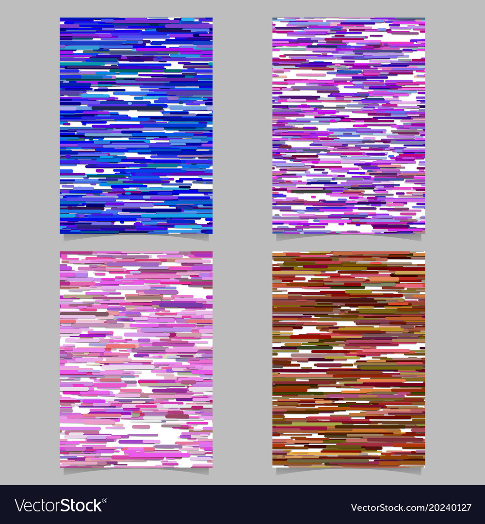 Abstract horizontal rounded stripe design