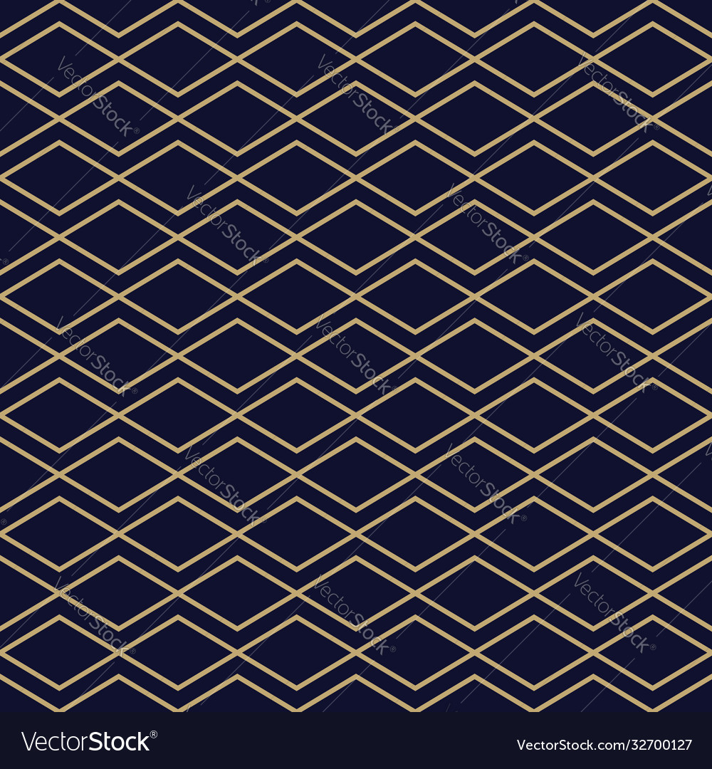 Abstract simple pattern with golden zigzag lines