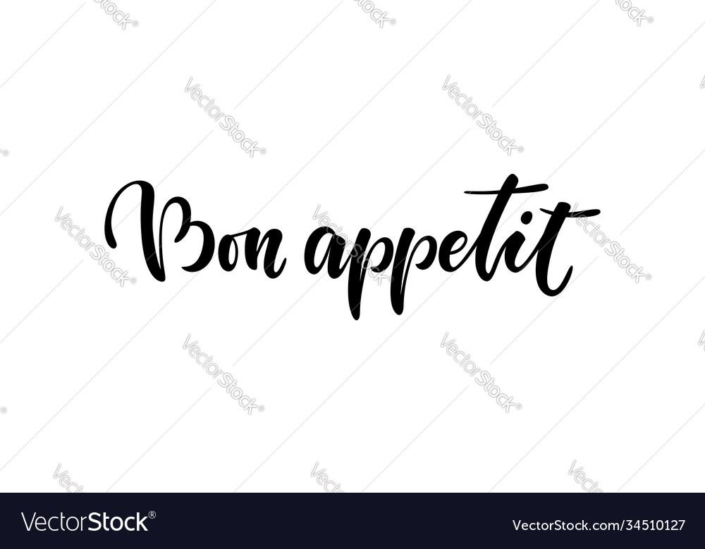 Bon appetit hand lettering good appetite doodle
