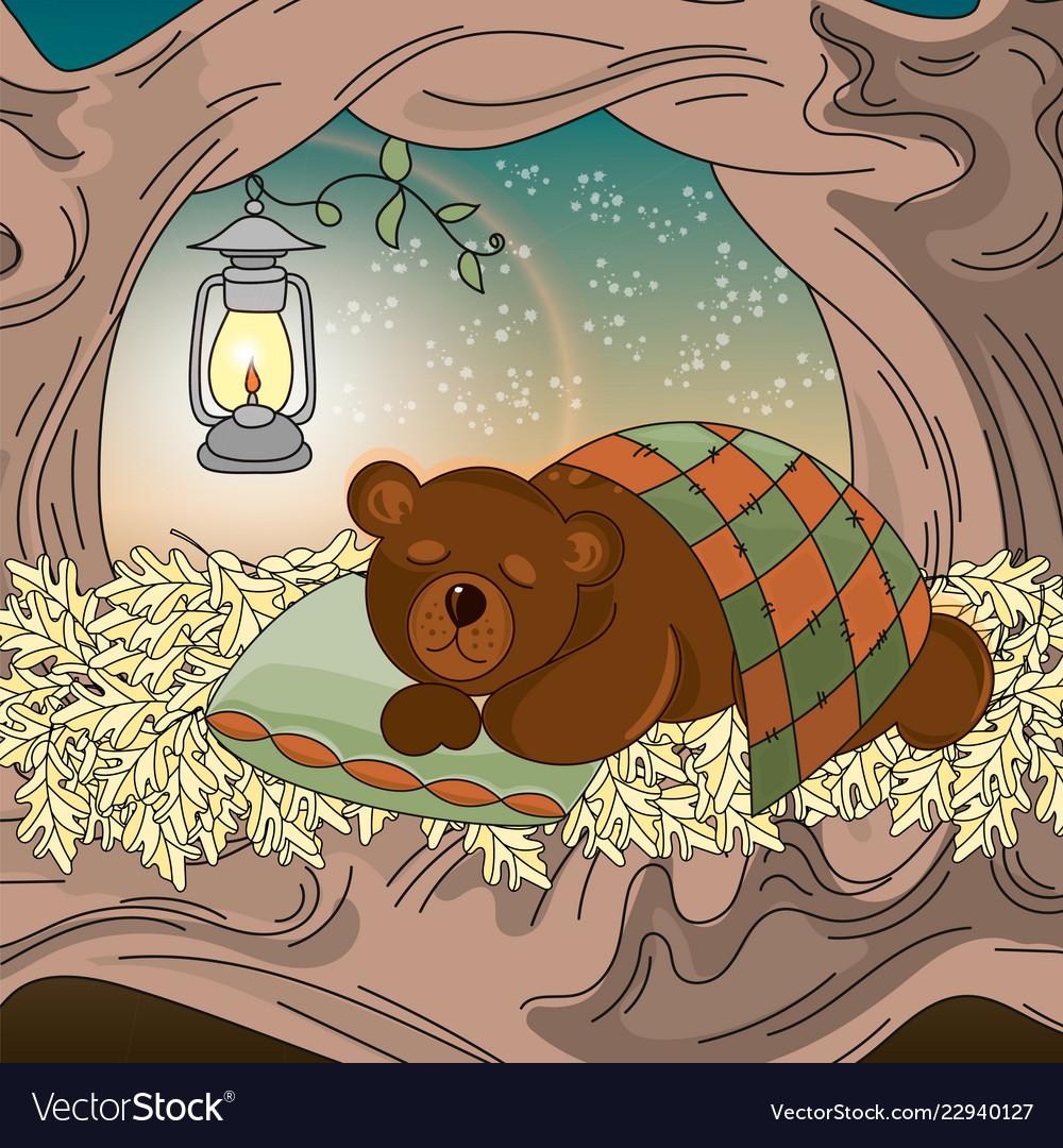 Dreaming bear animal set