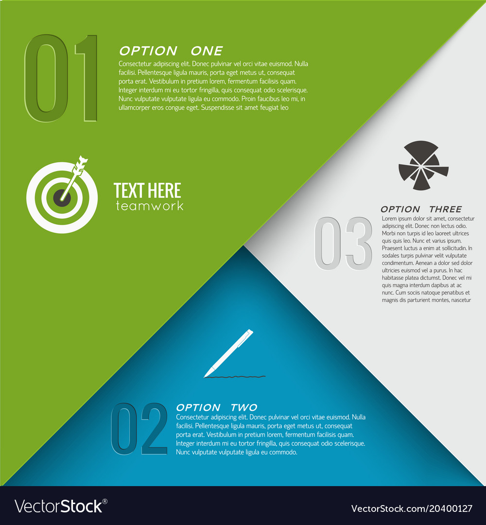 Geometric infographic concept