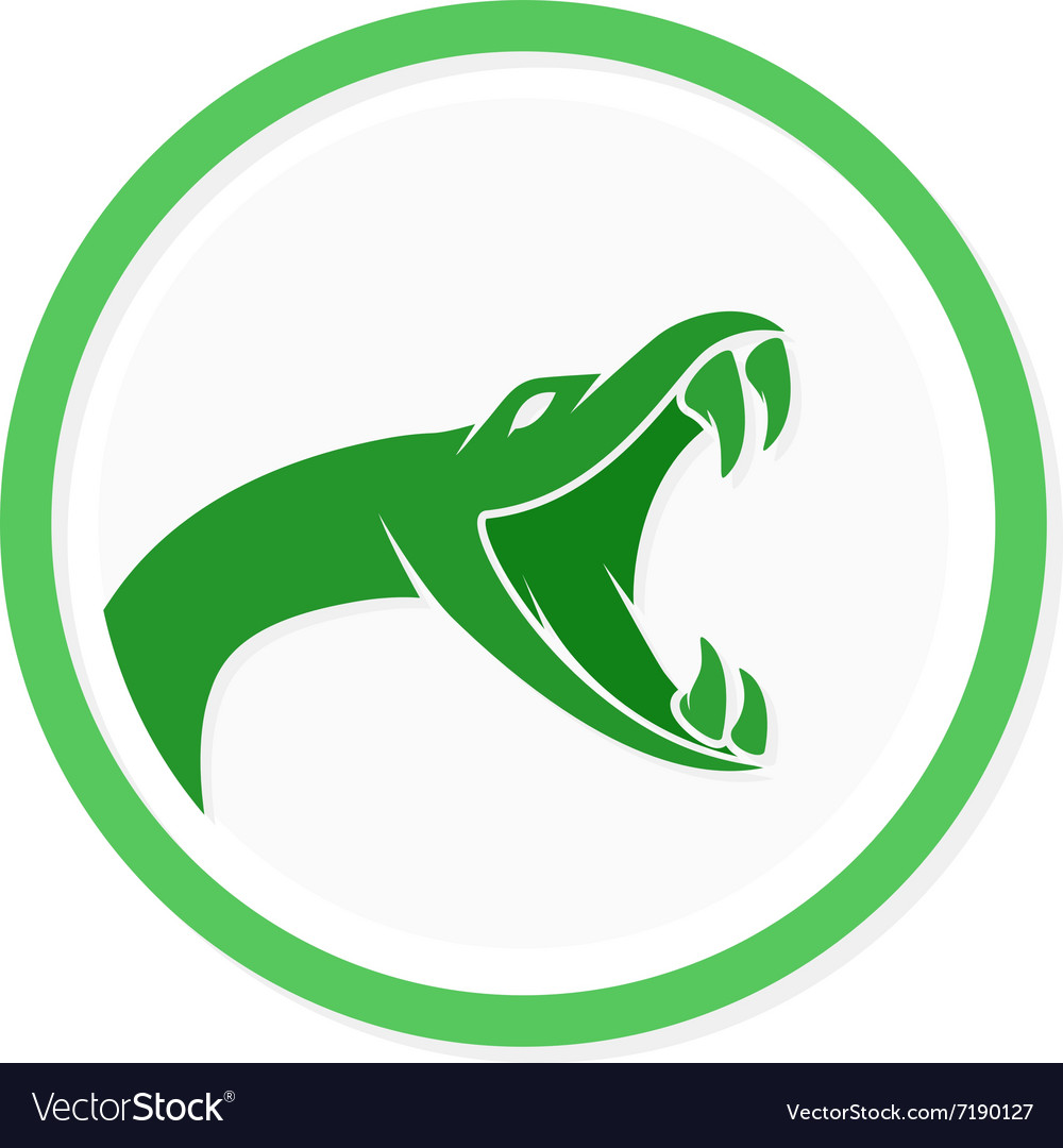 Snake logo template Viper head symbol or Vector Image
