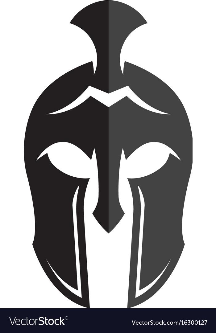spartan helmet logo template icon design vector image rh vectorstock com spartan helmet logo clip art spartan helmet logo vector