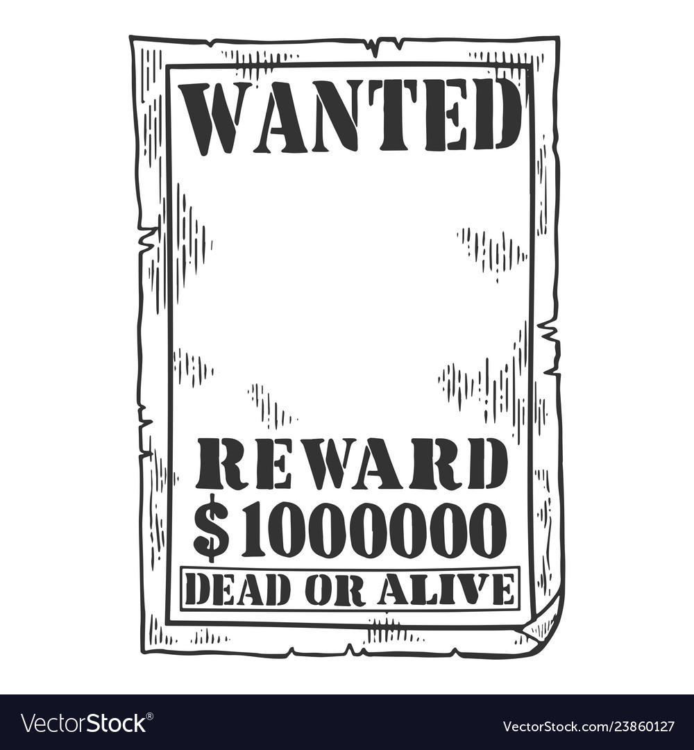 photograph about Printable Wanted Poster referred to as Preferred poster template engraving