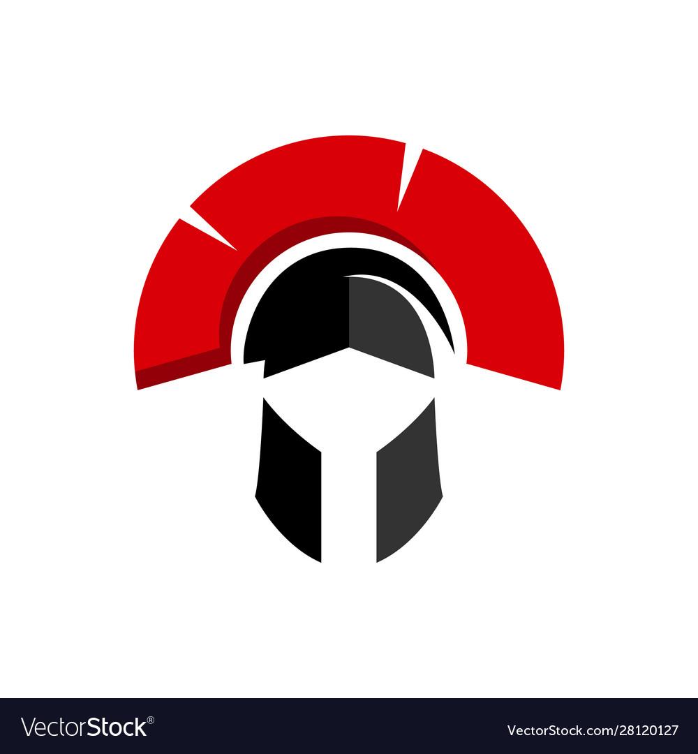 Warrior helmet logo design knight mask icon