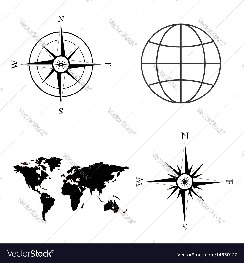 World map globe wind rose royalty free vector image world map globe wind rose vector image gumiabroncs Image collections