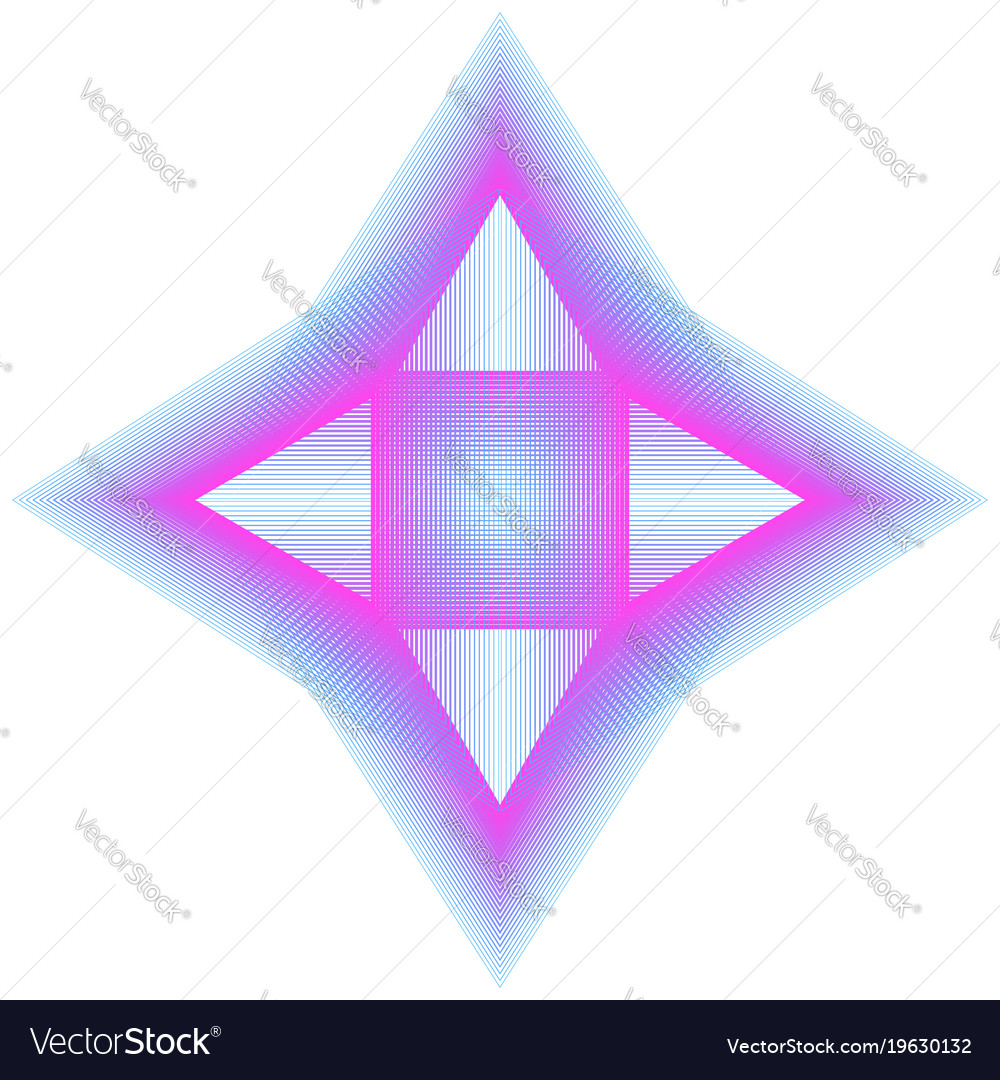 Abstract neon element of lines and triangles