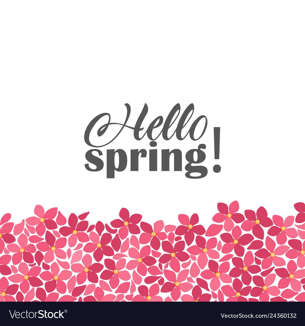 Floral frames hello spring