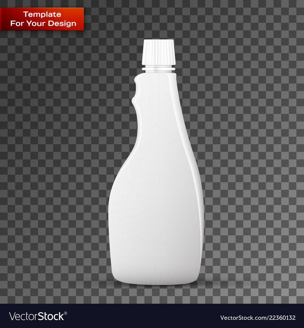 Glass white wine bottle