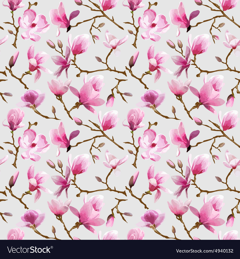 magnolia flowers background royalty free vector image
