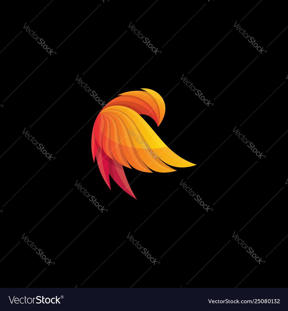 Phoenix logos abstract design
