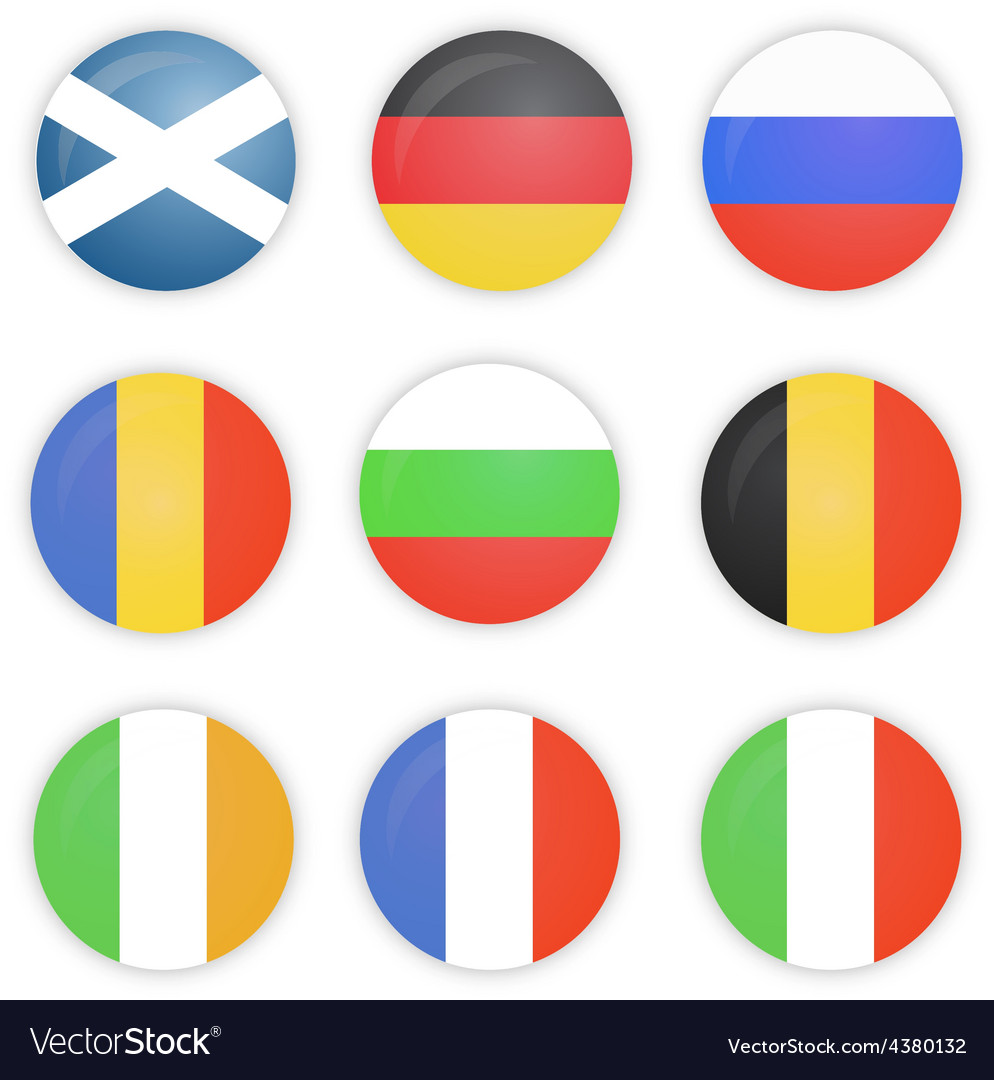 Round Flags of Europe Countries