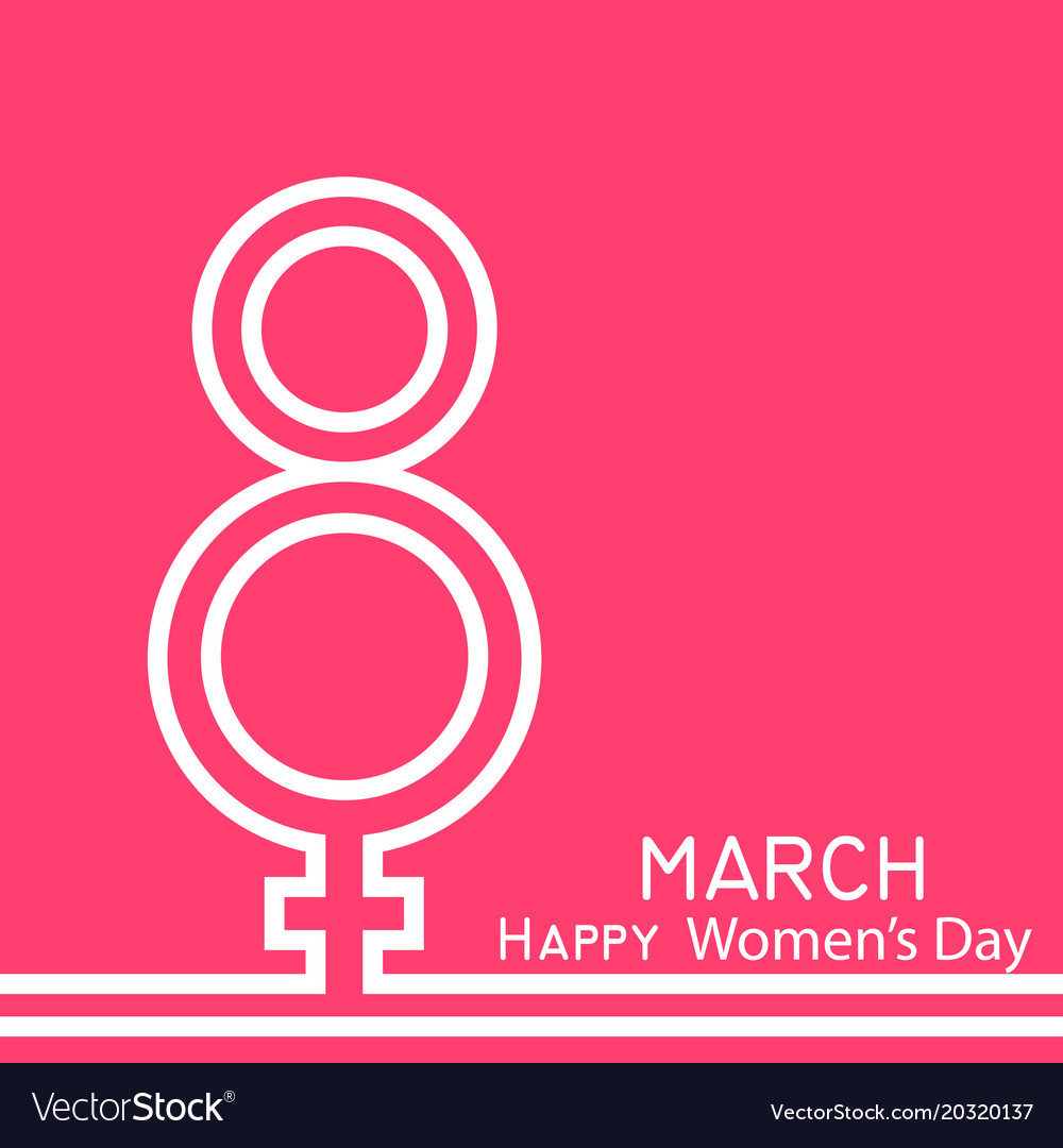 8 March Happy Womens Day Greeting Card Royalty Free Vector
