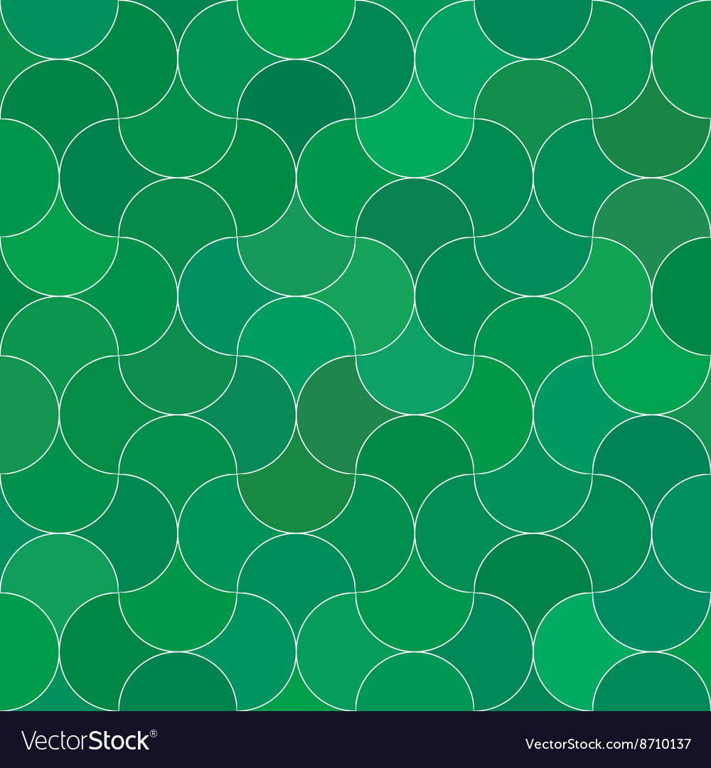 Abstract seamless scale green pattern