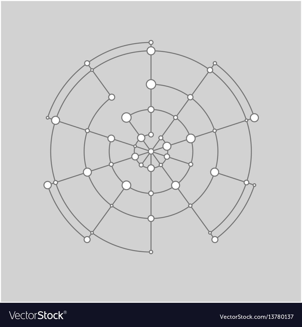 Abstract technology circle