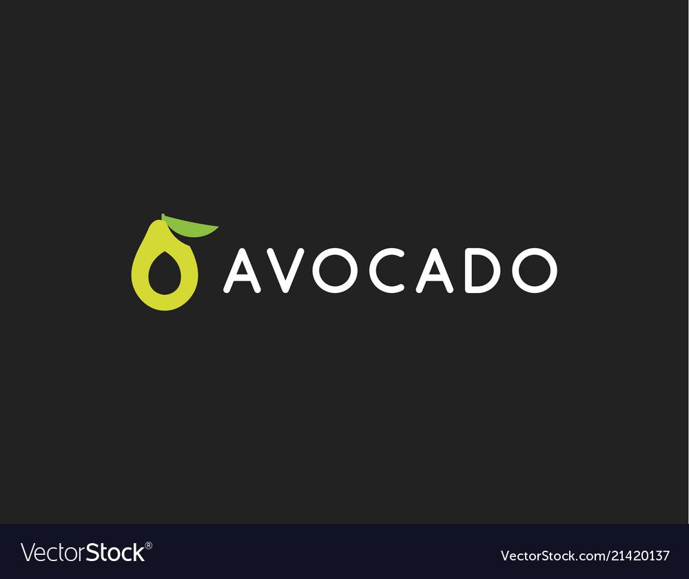 Avocado logo template icon modern design