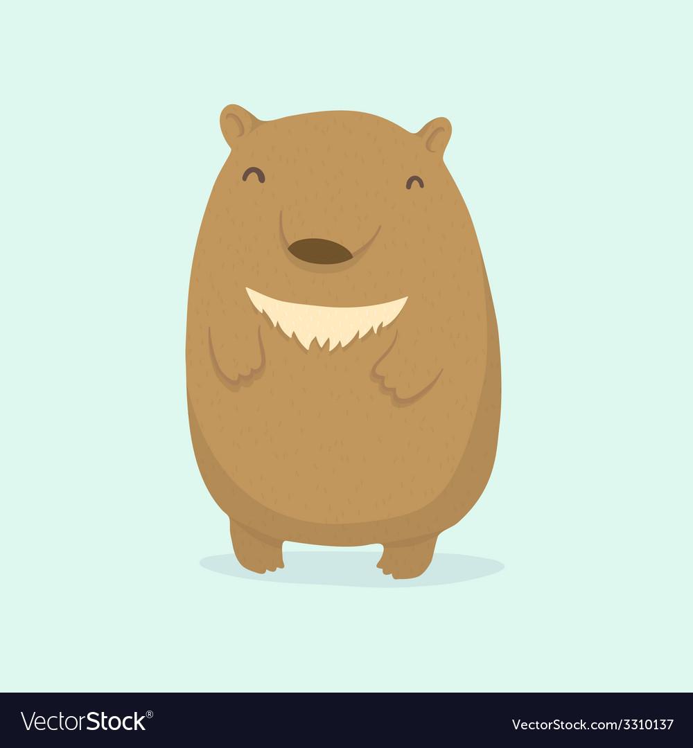 cartoon bear royalty free vector image vectorstock
