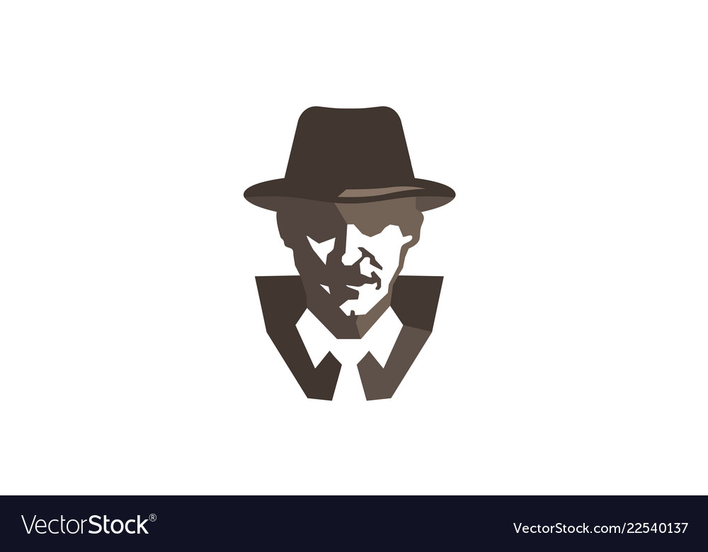 Detective head sheriff logo