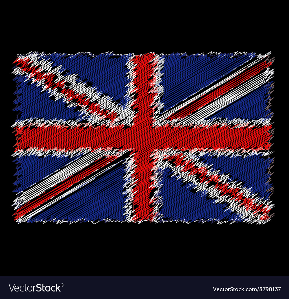 Flag of Great Britain by dirty brush