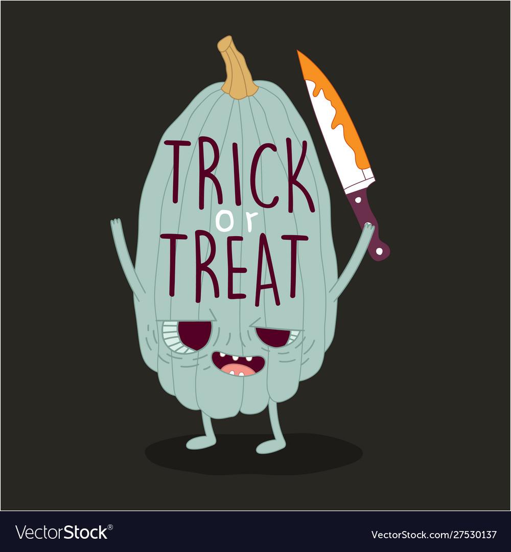 Funny pumpkins wish you a happy halloween