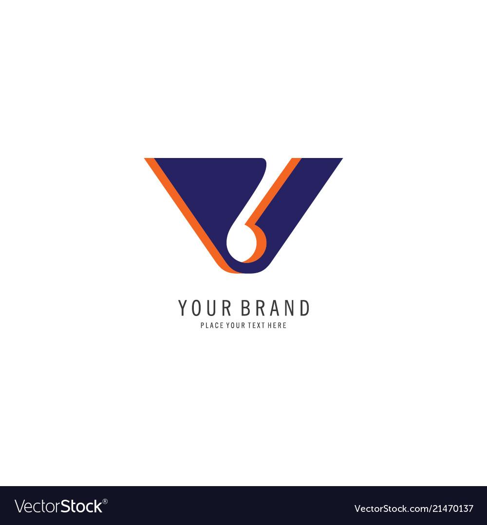 Letter v logo concept