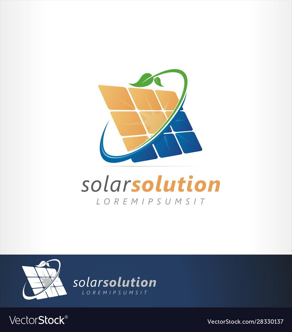 Solar logo panel green friendly energy