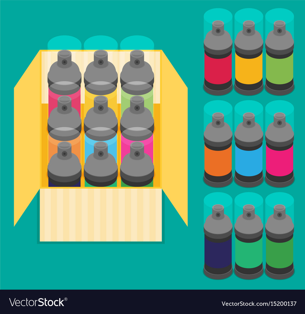 Spray paint can flat icon