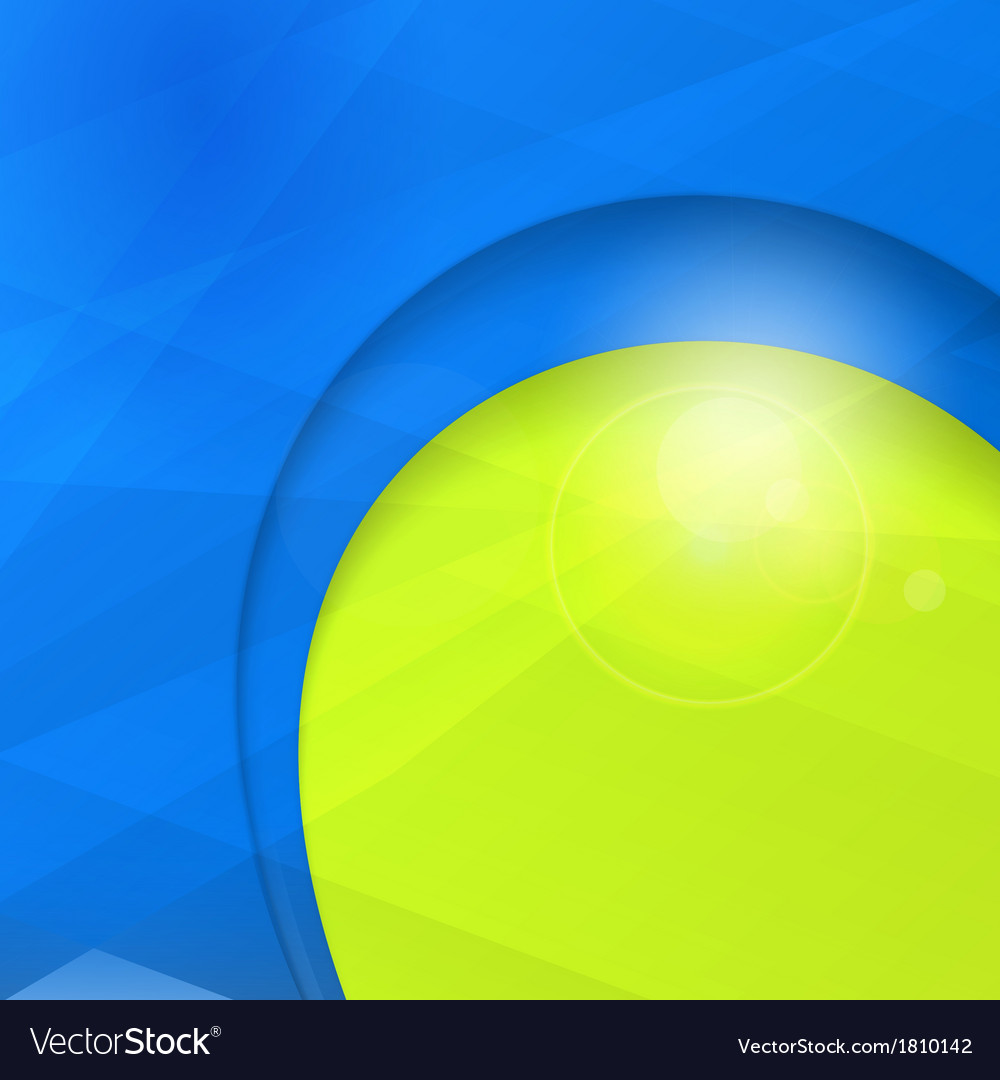 Abstract blue green business design template with