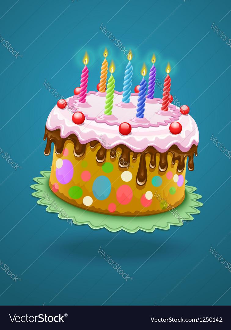 Birthday cake with burning