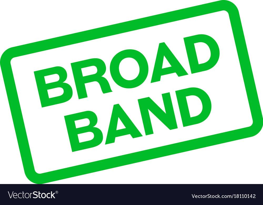 Broadband sticker stamp