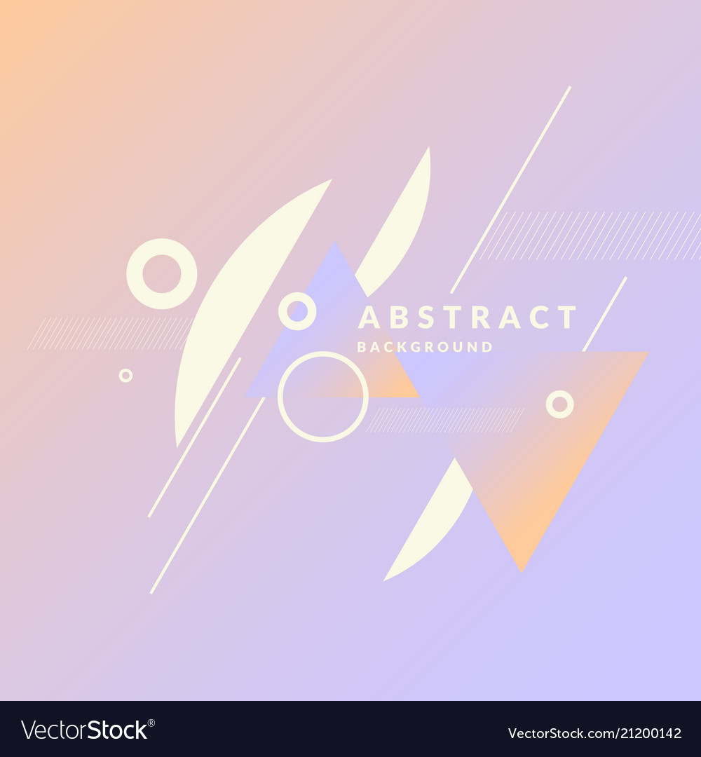 Geometric poster with different shapes modern