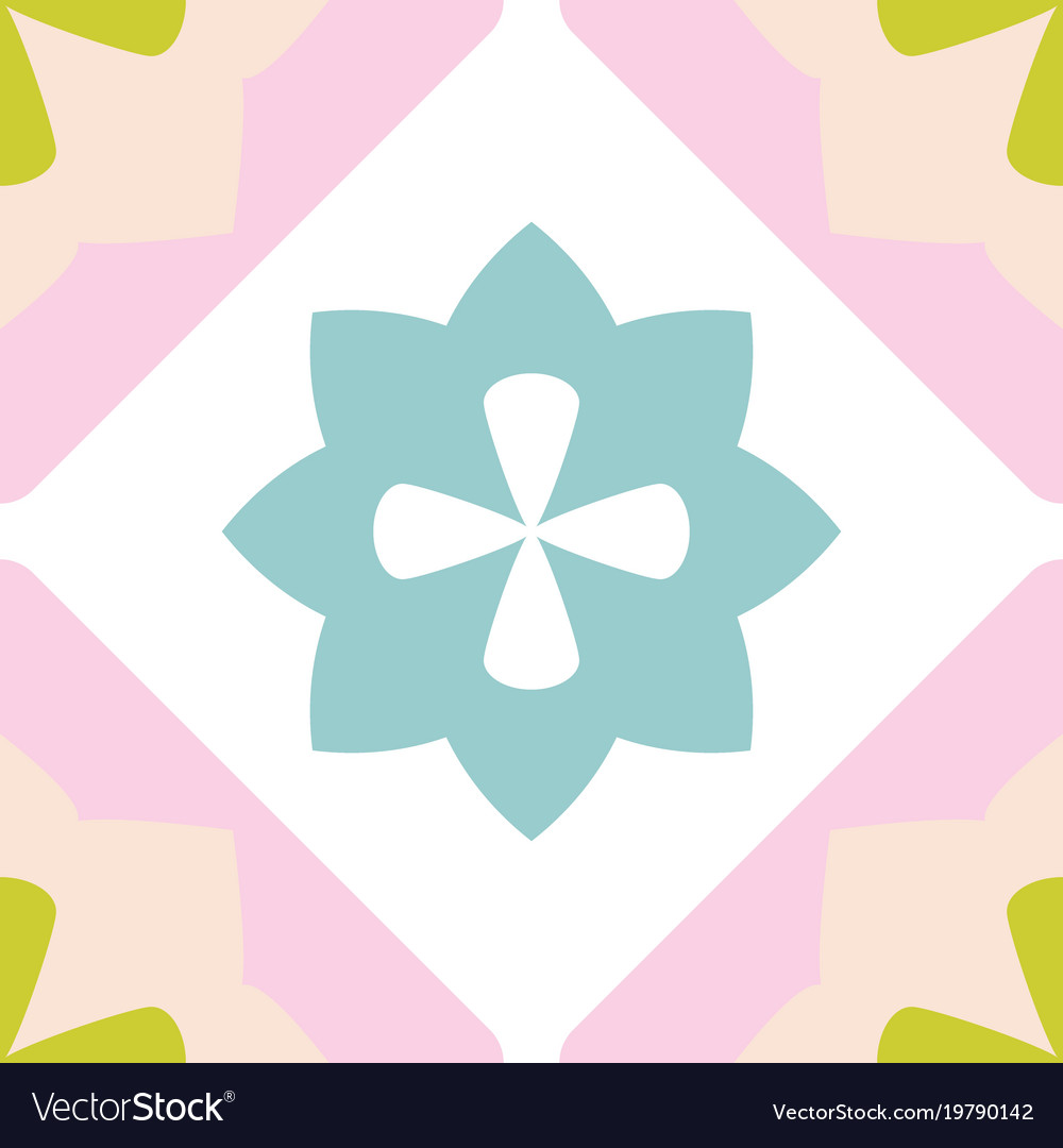 Tile decorative floor tiles pastel pattern Vector Image