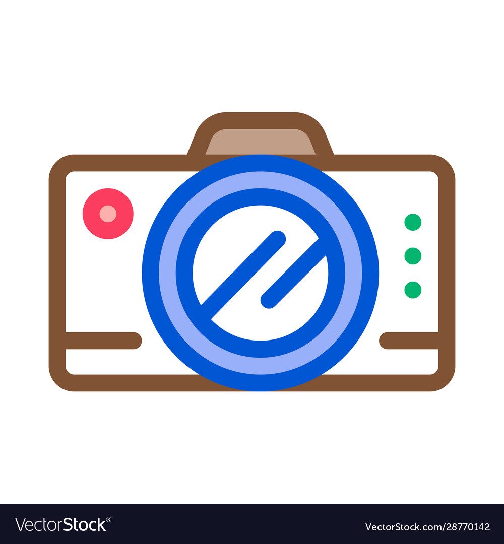 Travel hiking camera icon outline