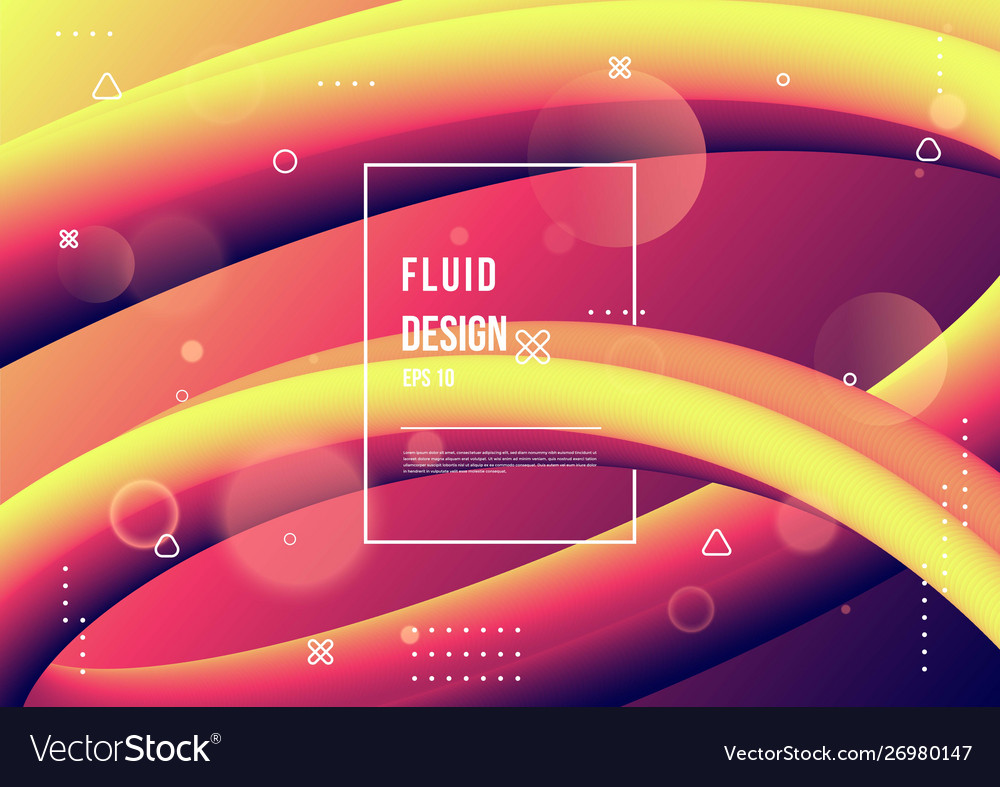 Abstract fluid color pattern neon color liquid