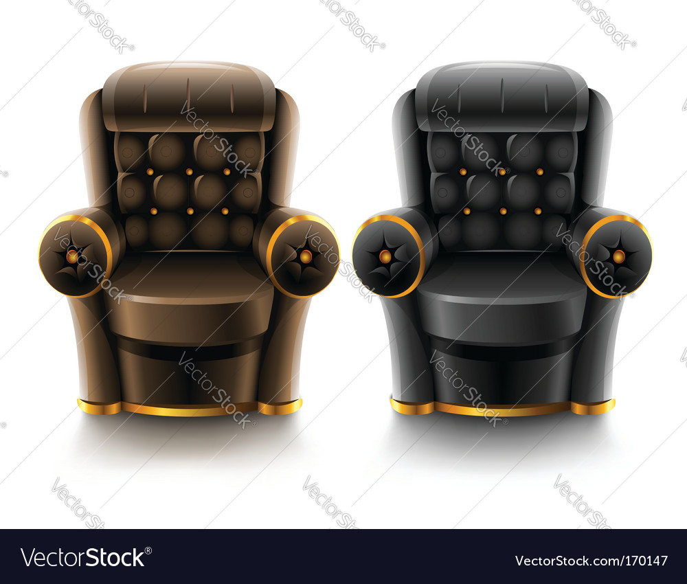 Marvelous Brown And Black Leather Armchairs Inzonedesignstudio Interior Chair Design Inzonedesignstudiocom