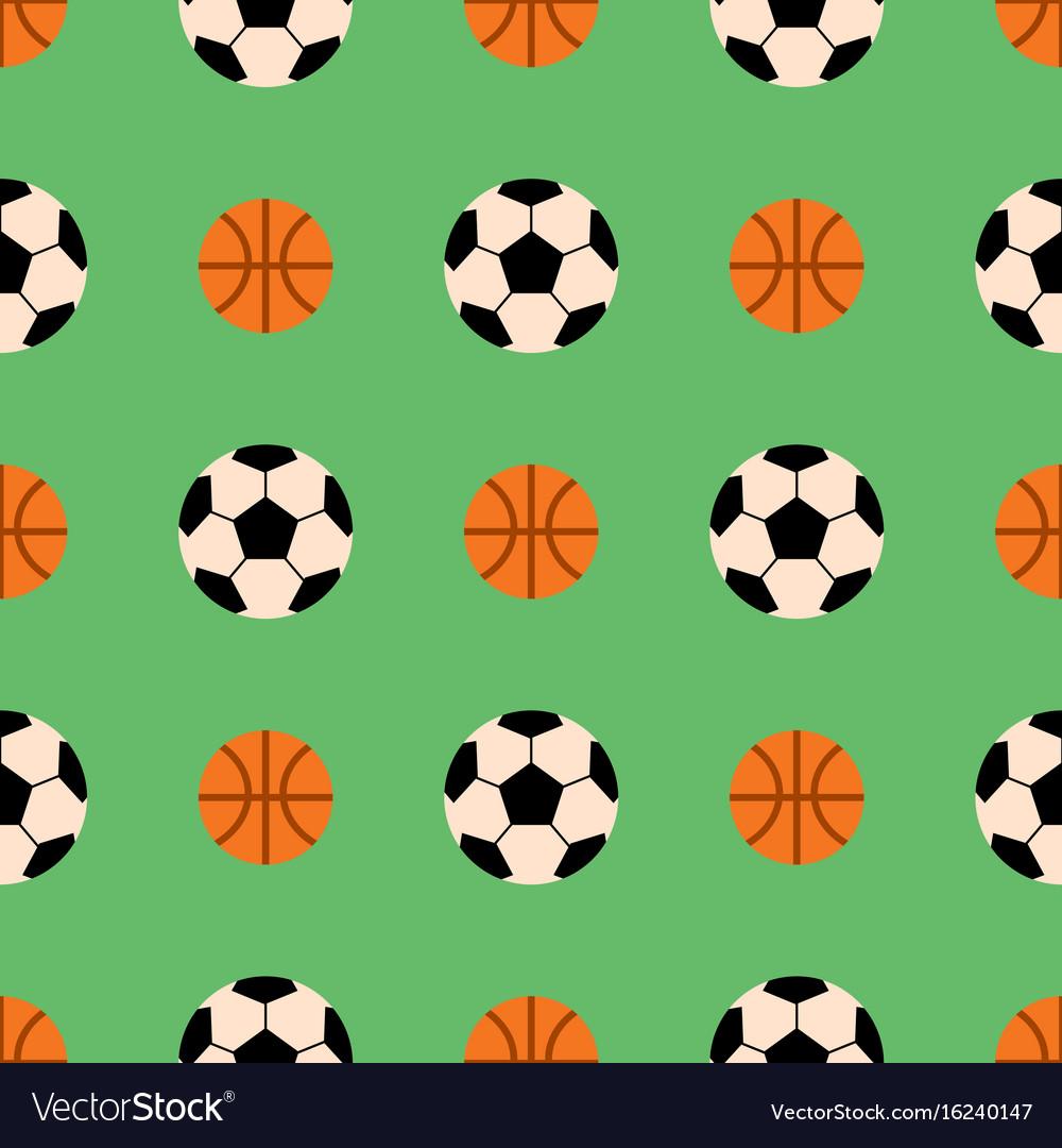 Seamless pattern with soccer balls hexagon