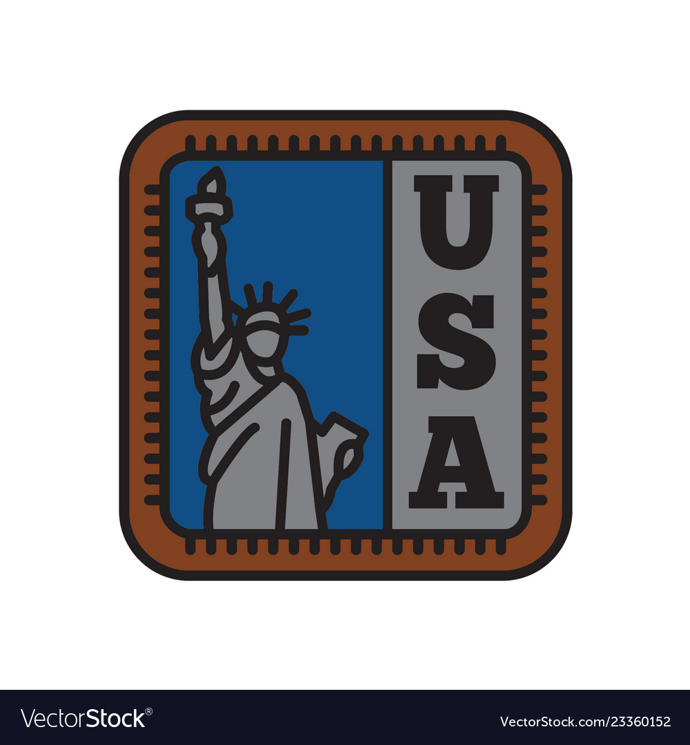 Country badge collections symbol liberty of big