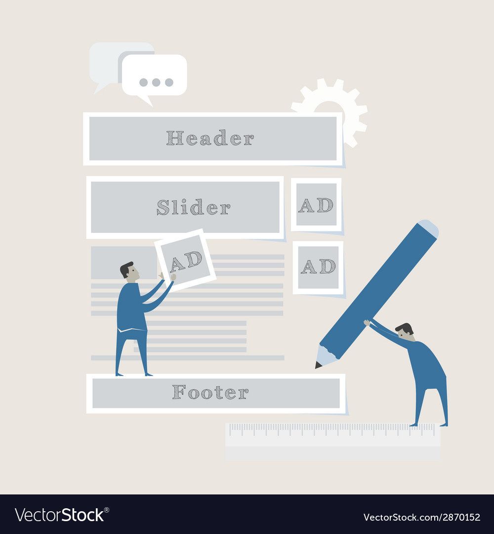 Element of web development concept icon in flat