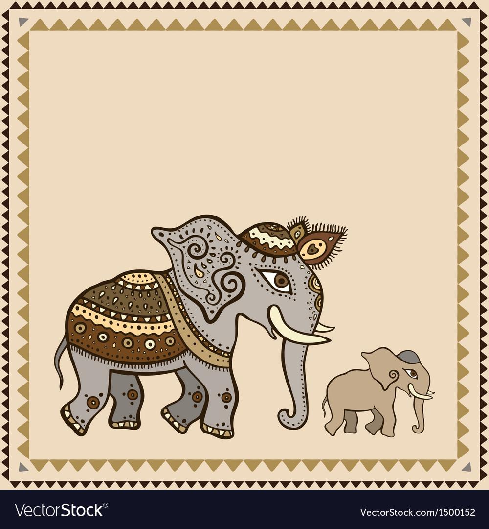Ethnic elephant Indian style