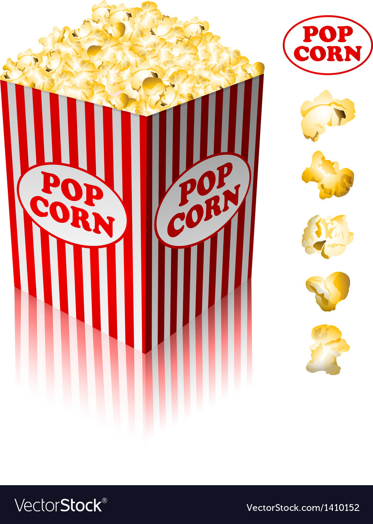 Popcorn in a striped tub