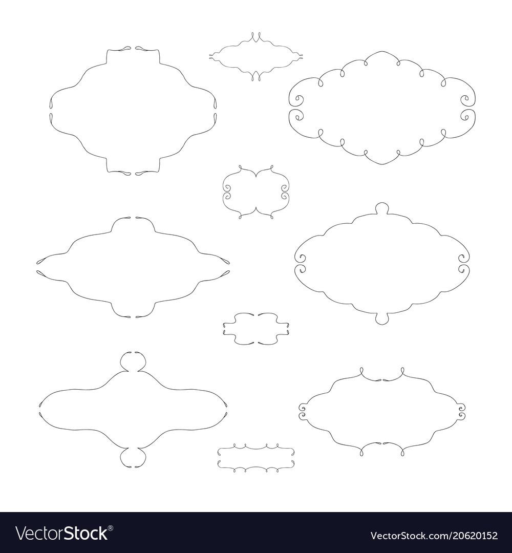 Set luxury sign vector image
