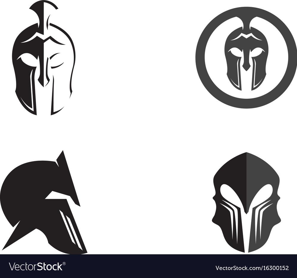 58305dcb18887 Spartan helmet logo template icon design Vector Image