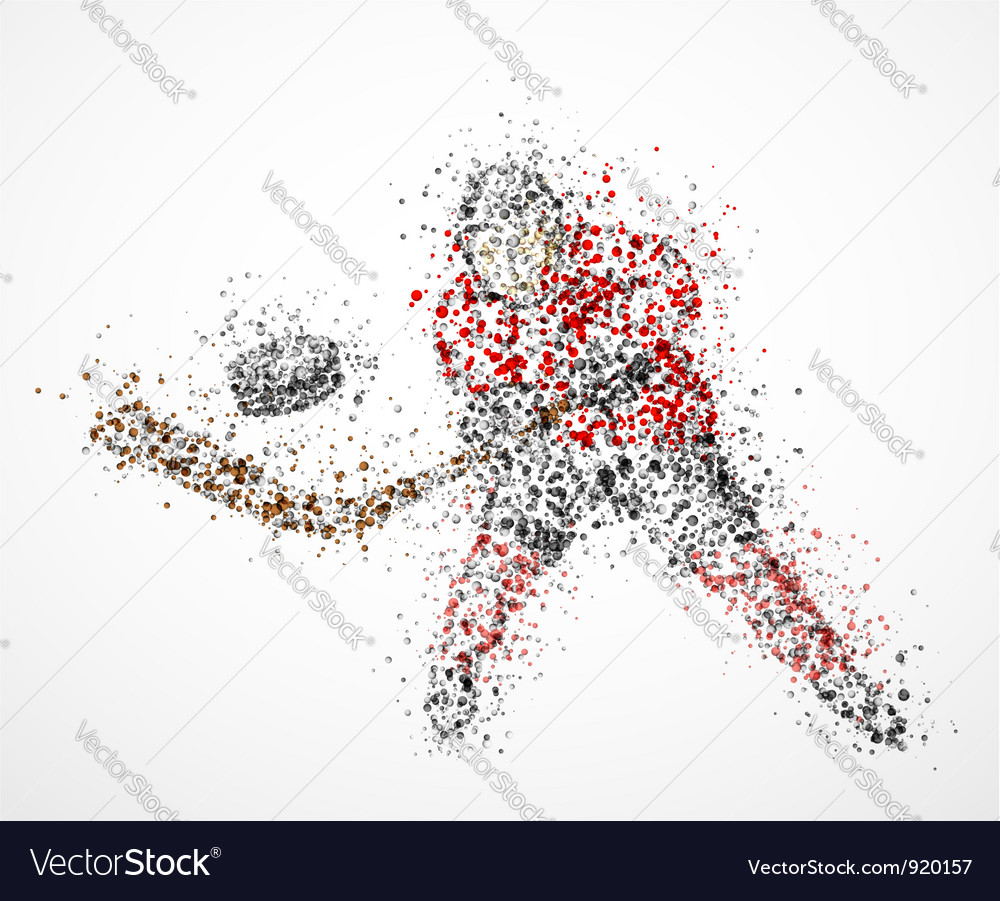 Abstract hockey player vector image