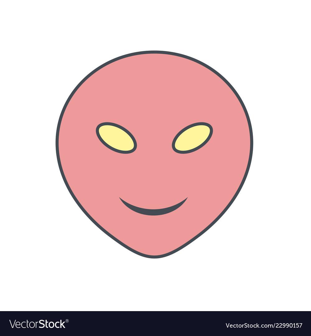 Alien emoji icon Vector Image