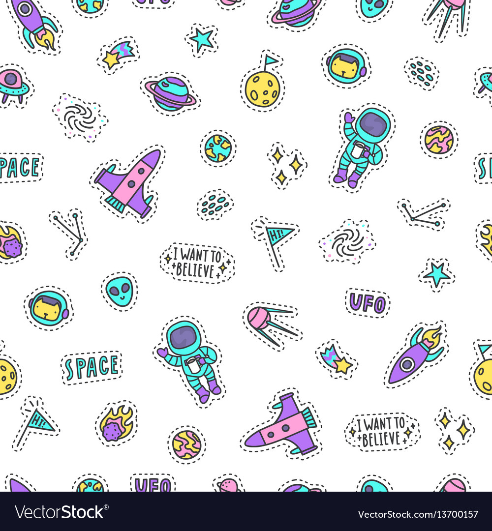 Bright space objects background