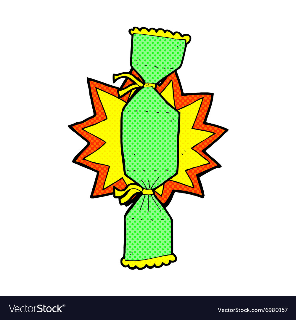 Christmas Cracker Vector.Comic Cartoon Christmas Cracker Vector Image On Vectorstock