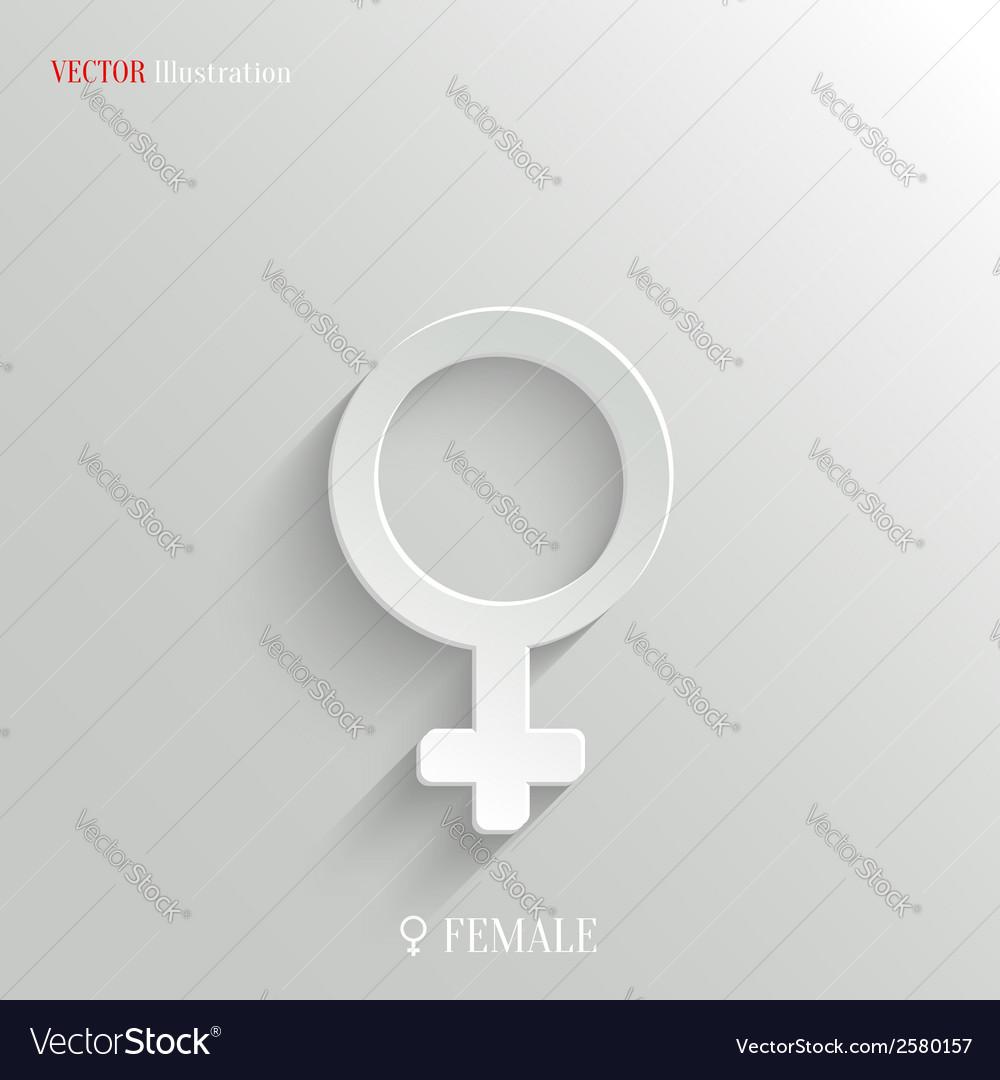 Female icon - white app button