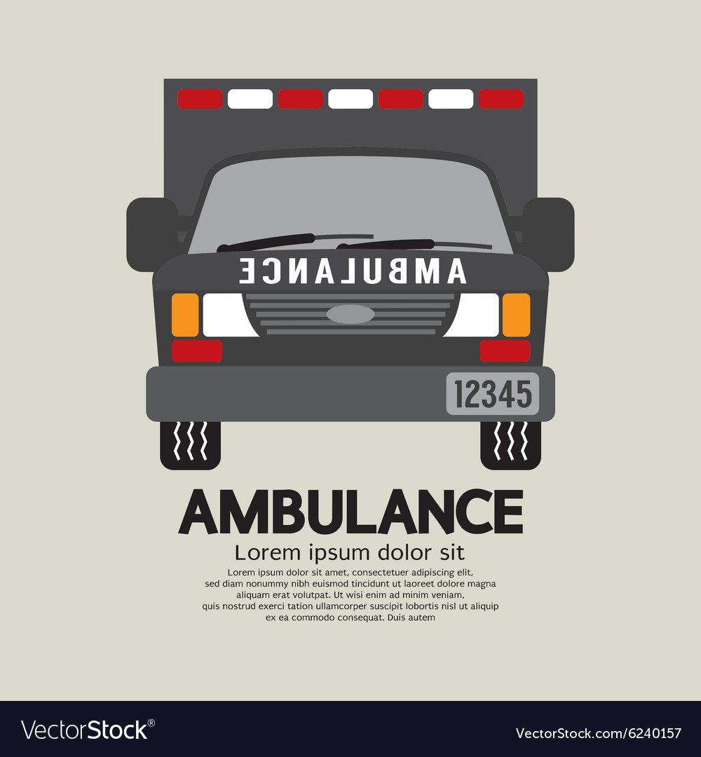 Front View Of Ambulance