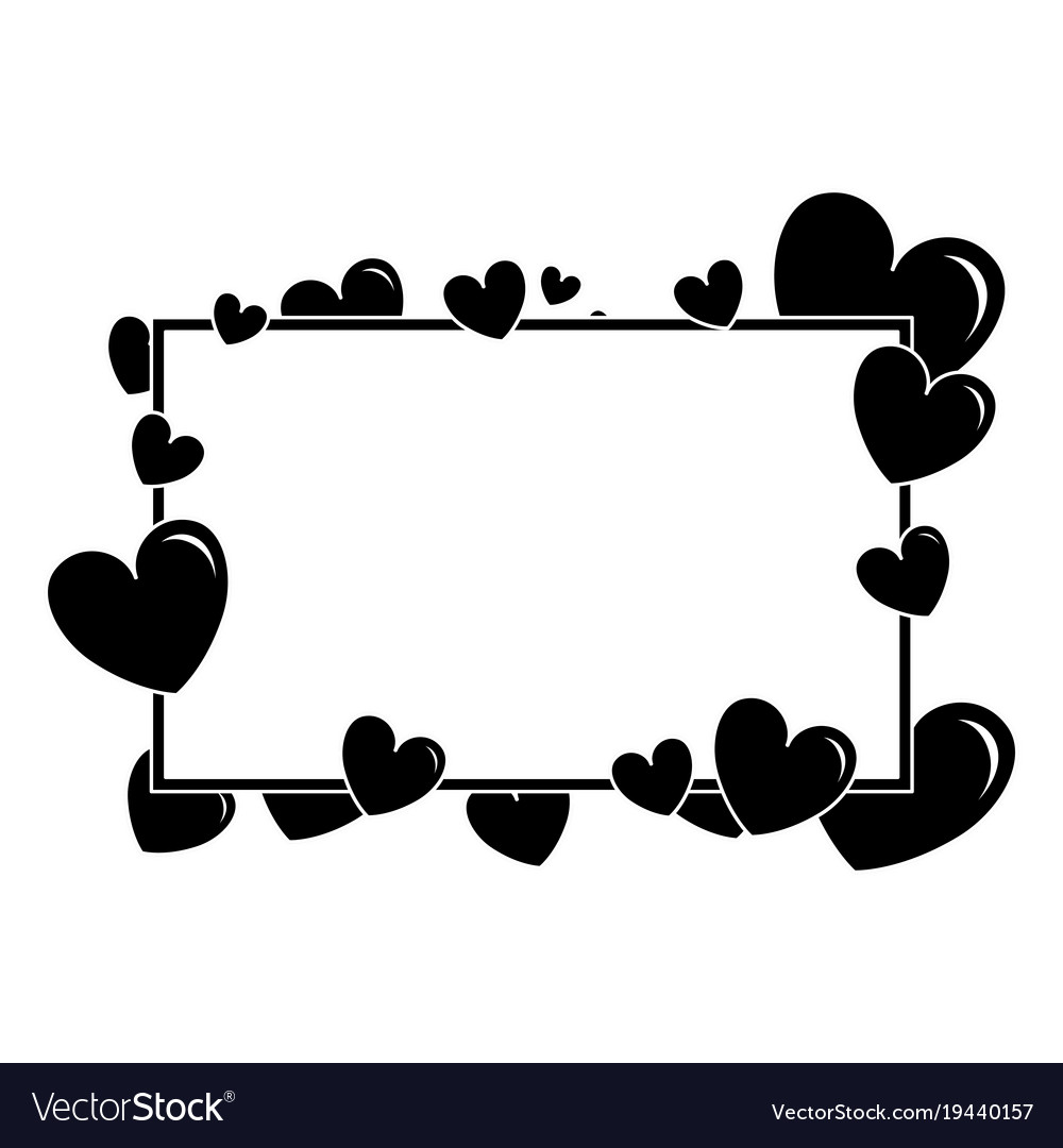 hearts love with frame pattern background vector 19440157