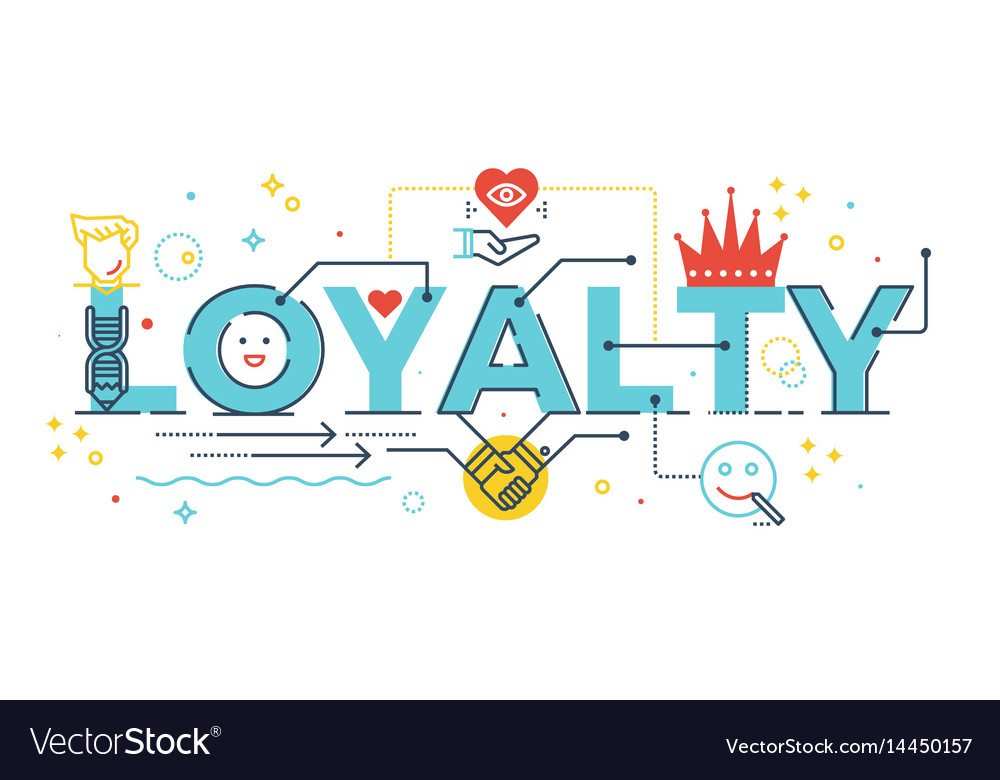 Loyalty word lettering vector image